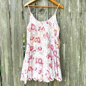 Free People Tank Top Tunic BoHo Floral
